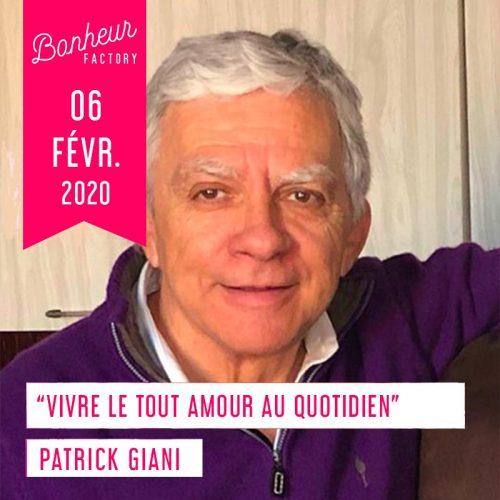 Patrick Giani conférence